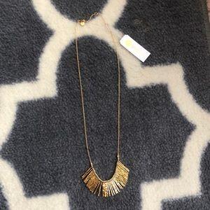 NWT. Gorjana Kylie Fan necklace